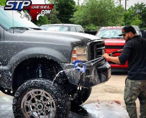 STP Owner Washing Car
